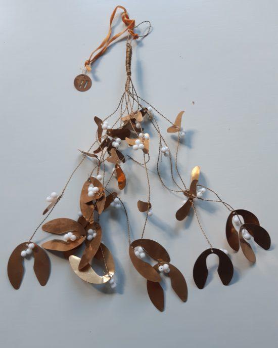 mistletoe krans hanger metaal
